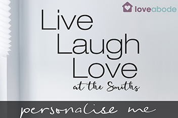 Personalised Live Laugh Love Wall Sticker By Loveabode