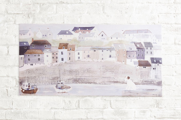 Artist Collection Harbour Wall Canvas By Hannah Cole