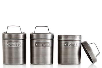 Kitchen Craft Set Of 3 Tea, Coffee & Sugar Canisters