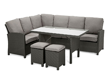 Aruba Grey Corner Dining Set