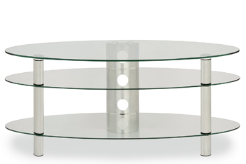 Glass Oval TV Unit