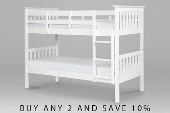 White Painted Bunk Bed