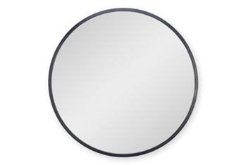 Black Painted Metal Round Mirror