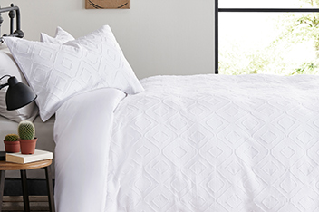 200 Thread Count Cotton Cut Jacquard Bed Set