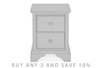 Marielle Grey Bedside Table