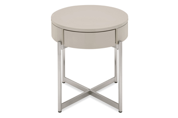 Logan Taupe Side Table