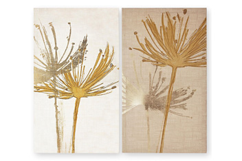 Set Of 2 Desert Floral Canvases