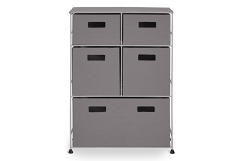 Little One Grey Fabric 5 Drawer