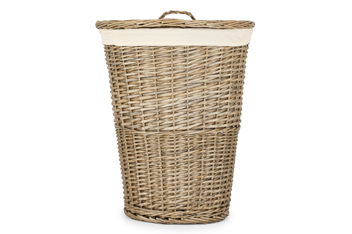 Natural Willow Round Laundry Bin