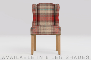 Sherlock Versatile Check Sterling Red Dining Chair