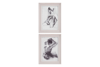 Set Of 2 Framed Nude Prints