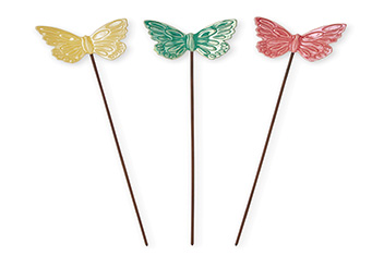 Set Of 3 Butterfly Stakes