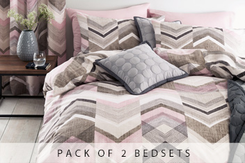 2 Pack Texture Chevron Bed Set