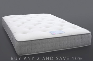 1000 Pocket Sprung Luxury Memory Foam Medium Mattress