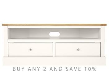 Shaftesbury Painted Corner TV Stand