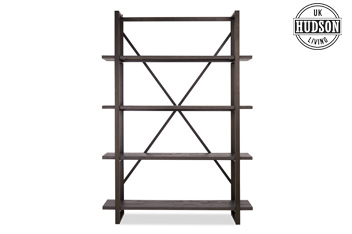 Hudson Dark Tall Shelves