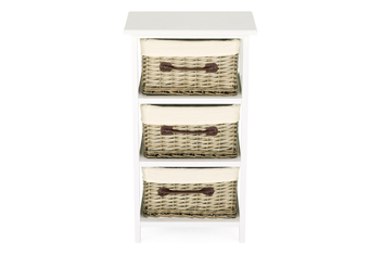 Natural Willow 3 Drawer Unit