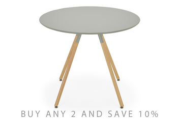 Lucas Grey Round Dining Table