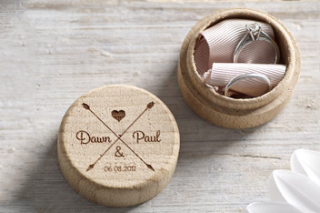 Personalised Wooden Wedding Ring Box By Loveabode