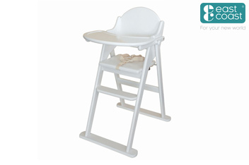 Fold Highchair White By East Coast