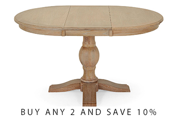 Hardwick 6 Seater Round Extending Dining Table