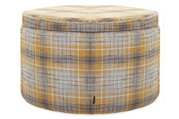 Boucle Check Ochre Storage Drum