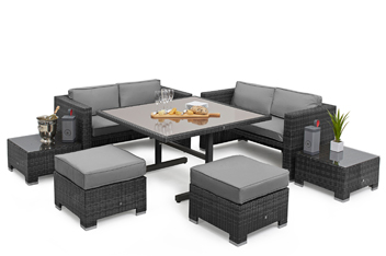 Grey Cube Sofa Set