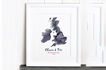 Personalised Special Location Print by Letterfest