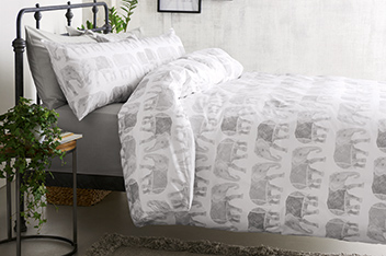 Elephant Print Bed Set