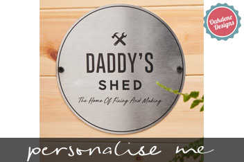 Personalised Steel Shed Sign by Oakdene Designs