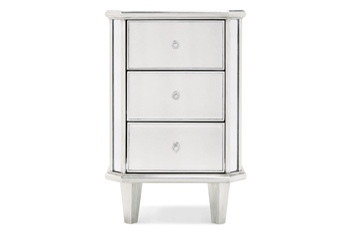 Juliette Pewter Bedside Table