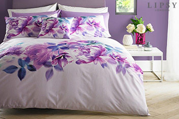 Lipsy Translucent Bloom Duvet Set