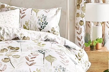 Cotton Sateen Botanical Floral Bed Set