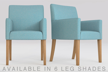 Set Of 2 Moda II Carver Dining Chairs