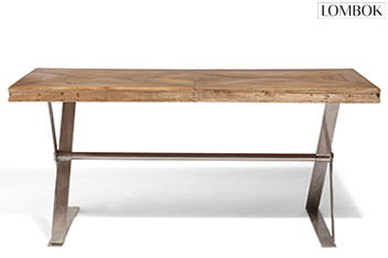 Lombok Artisan Cross Leg Dining Table
