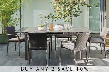 Monaco 6-8 Seater Extending Dining Table