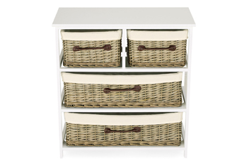 Natural Willow 4 Drawer Chest