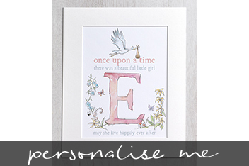 Beautiful Girl Initial Illustration By Letterfest