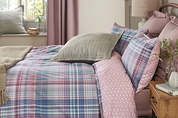 Columbia Check Bed Set