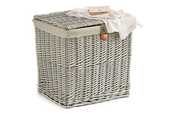 Willow Painted Storage Basket
