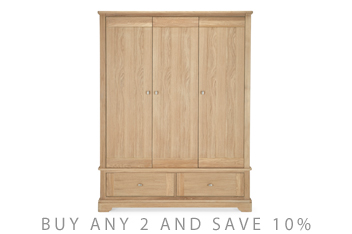 Hampton Oak Triple Robe