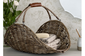 Natural Open Willow Basket