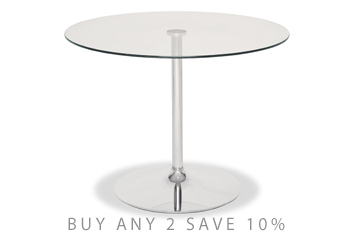 Orbit Glass Dining Table