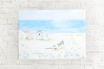 Seaside Scene Canvas By Hannah Cole