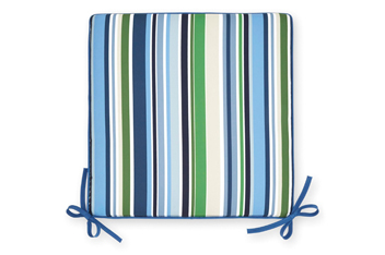 Set Of 2 Blue Stripe Seat Pads