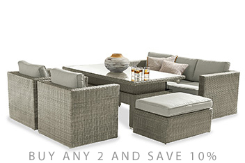Monaco Living And Dining Table Garden Set