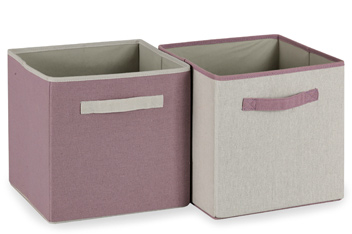 Set Of 2 Lilac Storage Cubes
