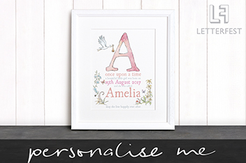 Personalised New Baby Details Print By Letterfest