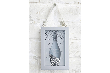 Prosecco Time Hanging Shaker Frame