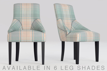 Set Of 2 Winchester Non Buttoned Dining Chair